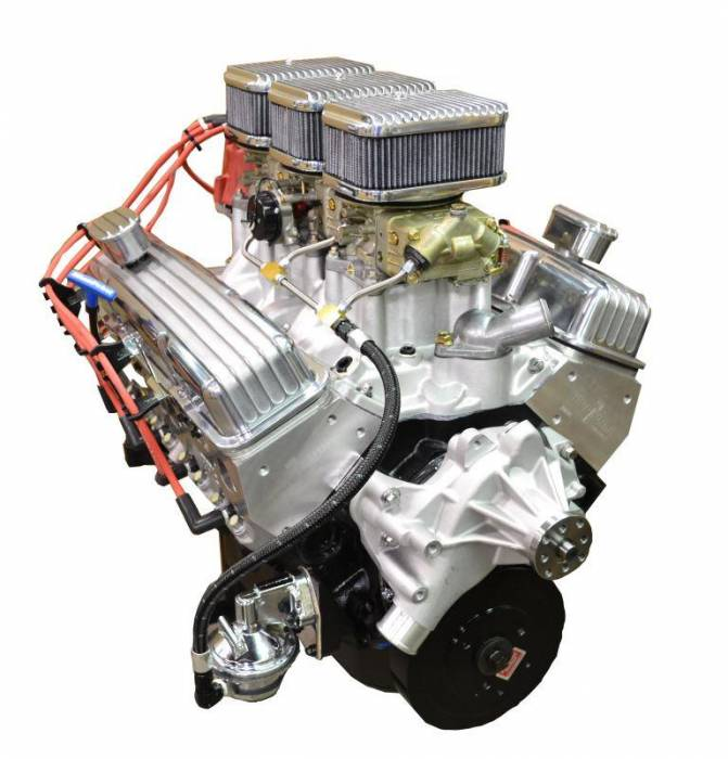PACE Performance - BP35513CT1-6X - Pace SBC 355CID 390HP Crate Engine with Holley Tri-Power