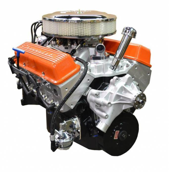 BP35513CT1 - Pace SBC 355CID 390HP Orange Finish Crate Engine with