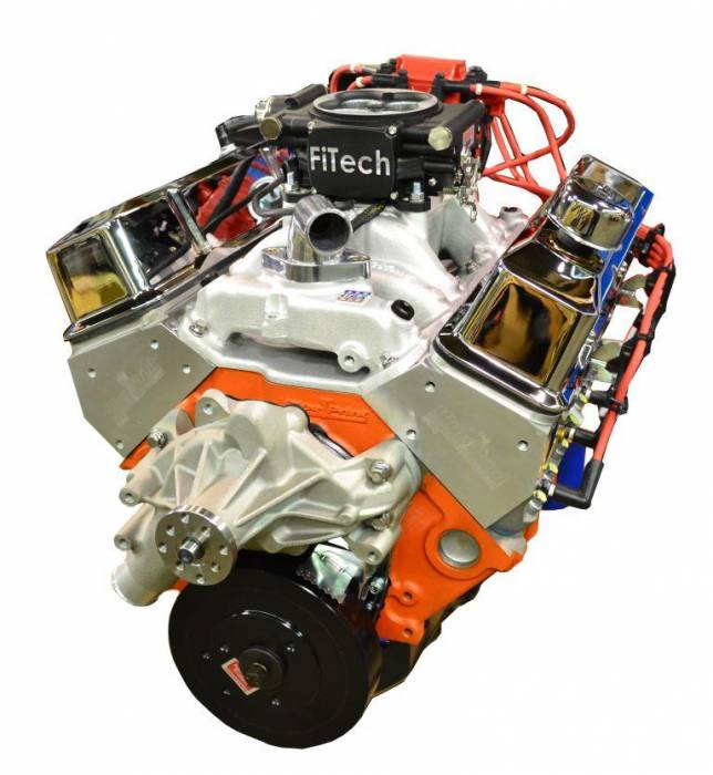 PACE Performance - BP4001CT1-1FX  Pace Fuel Injected SBC 400/460HP EFI Turn Key Crate Engine with Chrome Finish