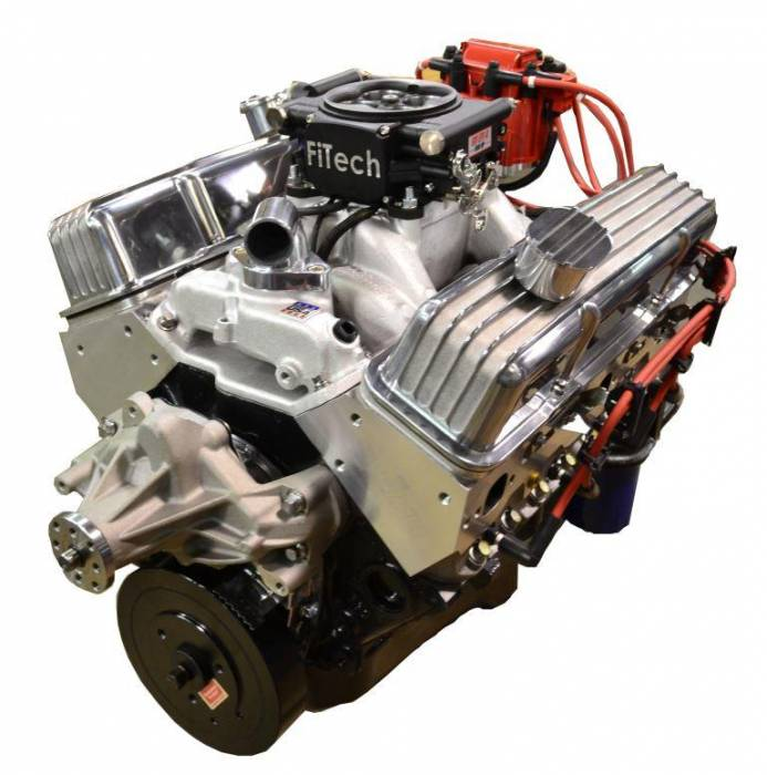 PACE Performance - GMP-TH400BP383-3F - Pace SBC 383/430HP EFI Polished Trim Crate Engine with TH400 Trans Combo