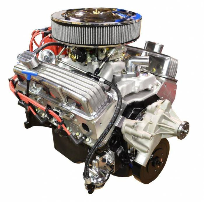 PACE Performance - GMP-700R4BP383-3 - Pace SBC 383/430HP  Polished Trim Crate Engine with 700R4 Trans Combo