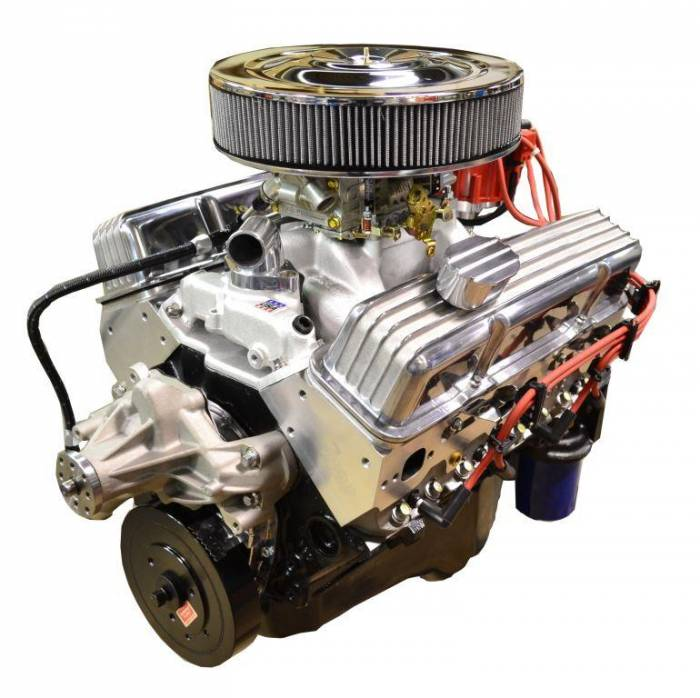 PACE Performance - GMP-TH400BP383-3 - Pace SBC 383/430HP  Polished Trim Crate Engine with TH400 Trans Combo