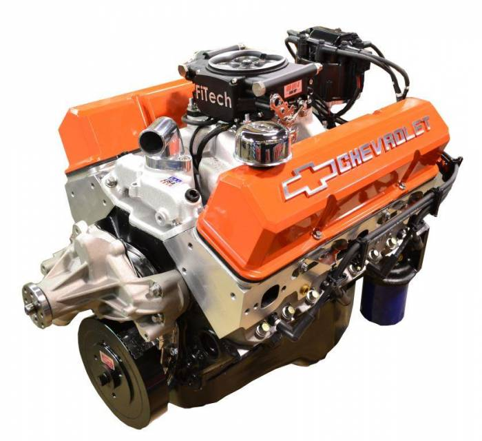 PACE Performance - GMP-700R4BP383-5F - Pace SBC 383/430HP EFI Orange Trim Crate Engine with 700R4 Trans Combo