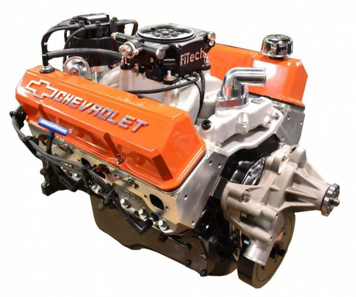 PACE Performance - GMP-TH400BP383-5F - Pace SBC 383/430HP EFI Orange Trim Crate Engine with TH400 Trans Combo