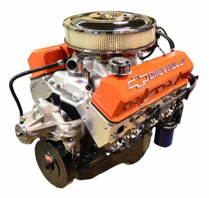 PACE Performance - BP38313CT1-5X - Pace Prepped & Primed SBC 383/430HP with Orange Trim Crate Engine