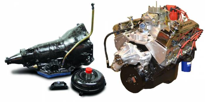 PACE Performance - GMP-TH350BP355-1 - Pace  SBC 355CID 390HP Chrome Finish Crate Engine w/TH350 Trans Combo