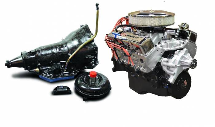 PACE Performance - GMP-TH350BP355-1F - Pace Fuel Injected SBC 355CID 390HP EFI Chrome Finish Crate Engine with TH350 Trans Combo