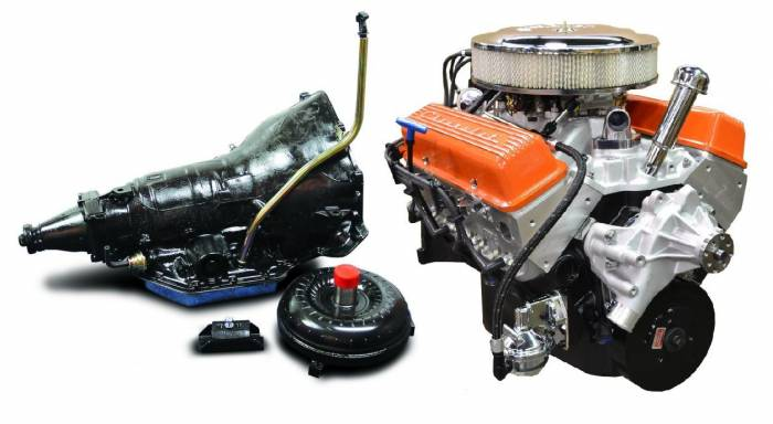 PACE Performance - GMP-TH350BP355-5 - Pace  SBC 355CID 390HP Orange Finish Crate Engine with TH350 Trans Combo
