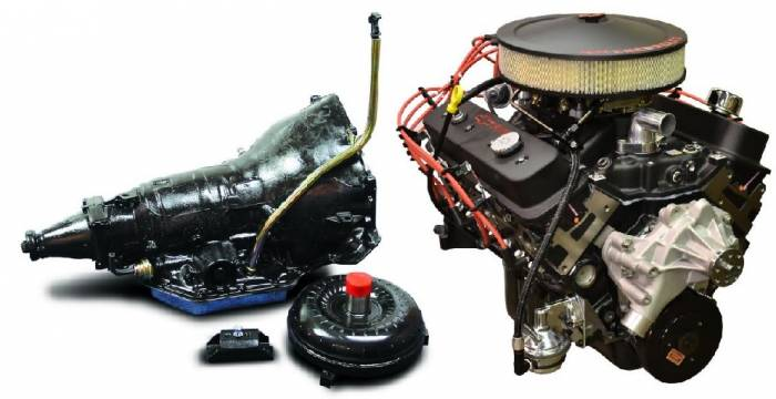 PACE Performance - GMP-TH350350HO-2 - Pace SBC 350CID 330HP Black Finish Turnkey Engine with TH350 Transmission Package