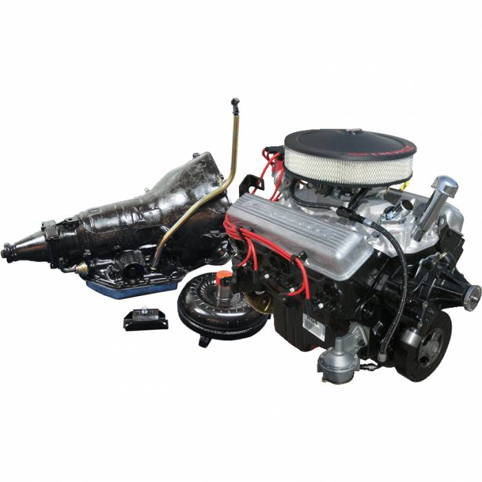 PACE Performance - GMP-TH350290HP-CF - Pace Fuel Injected Retro-Style SBC 350 290HP Turnkey EFI Engine with TH350 Transmission Package