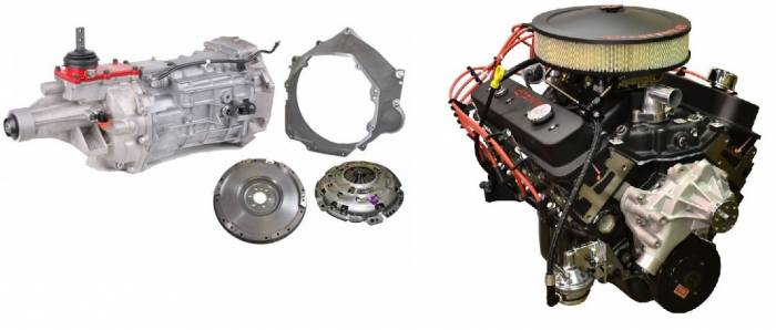 PACE Performance - GMP-T56350HO-2 - Pace SBC 350CID 330HP Black Finish Turnkey Engine with T56 6 Speed Transmission Package