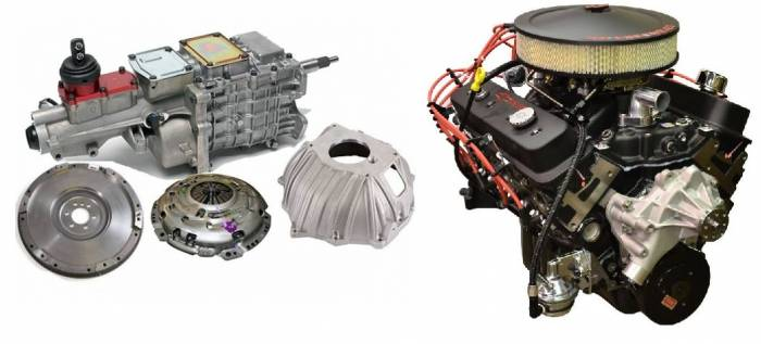 PACE Performance - GMP-TK6350HO-2 - Pace SBC 350CID 330HP Black Finish Turnkey Engine with TKO 600 5 Speed Transmission Package