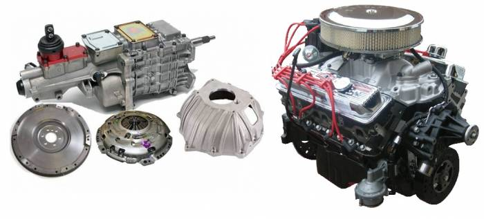 PACE Performance - GMP-TK6350HO-1 - Pace SBC 350CID 330HP Chrome Finish Turnkey Engine with TKO 600 5 Speed Transmission Package