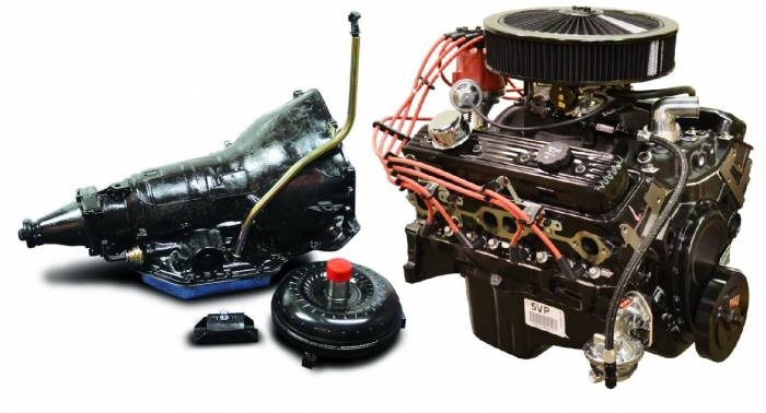 PACE Performance - GMP-TH3507353-V2 - Pace SBC 350 350HP Black Trim  Engine with TH350 Trans Package