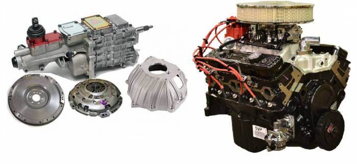 PACE Performance - GMP-TK67353-VF - Pace Fuel Injected SBC 350 350HP EFI Turnkey Engine with TKO600 5-Speed Trans Combo Package