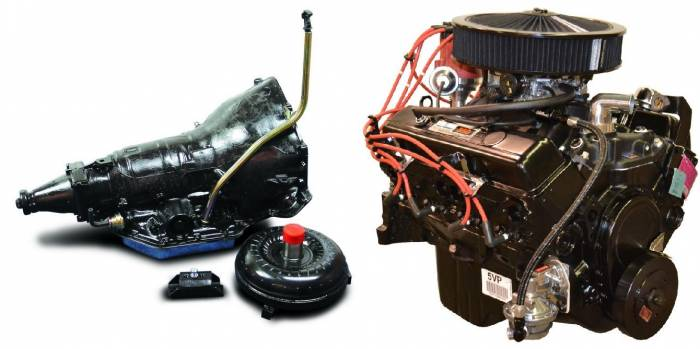 PACE Performance - GMP-TH3507353-2 - Pace SBC 350CID Turnkey Engine with Edelbrock Carb & TH350 Trans Package