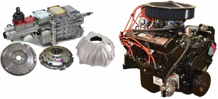 PACE Performance - GMP-TK67353-2 - Pace SBC 350CID 260HP Black trim Turnkey Engine with TKO600 5-Speed Transmission Package