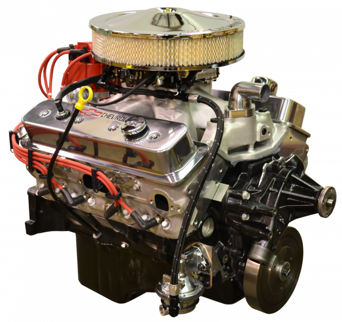 PACE Performance - GMP-19332532-3FX - Pace Fuel Injected SP383 435HP Polished Finish EFI Crate Engine