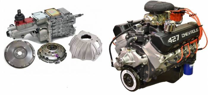 PACE Performance - GMP-TK6ZZ427-2X - Pace Prepped & Primed ZZ427 505HP Crate Engine with 4QT Muscle Oil Pan & TKO600 5 Speed Transmission Package