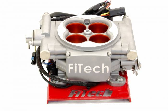 FiTech Fuel Injection - FTH-30003 - FiTech Go Street 4 Injector 400 HP Carb Swap EFI System with Cast Finish