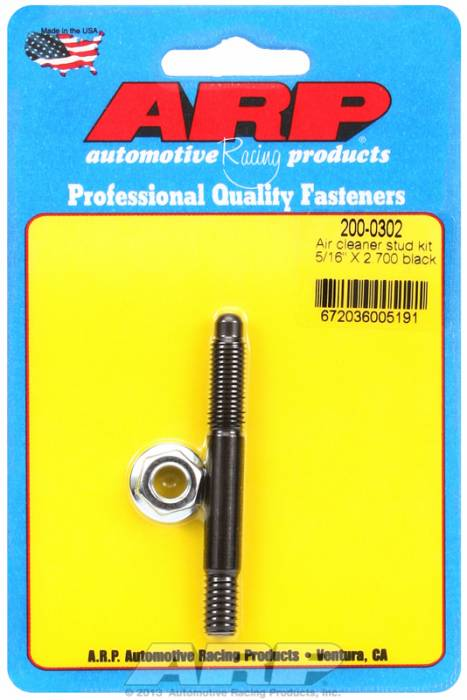 "ARP - ARP2000302 - ARP Air Cleaner Stud-5/16"" X 2-3/4"" Black Oxide Finish"