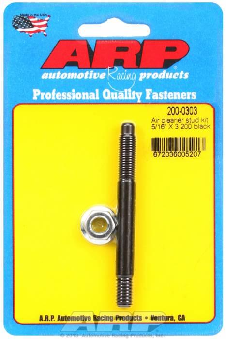 """ARP - ARP2000303 - ARP Air Cleaner Stud-5/16"""" X 3-1/4"""" Black Oxide Finish"""