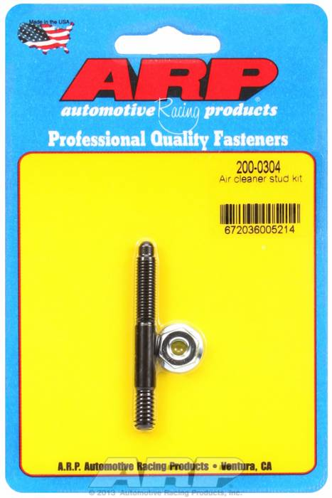 "ARP - ARP2000304 - ARP Air Cleaner Stud-1/4"" X 2-1/4"" Black Oxide Finish"