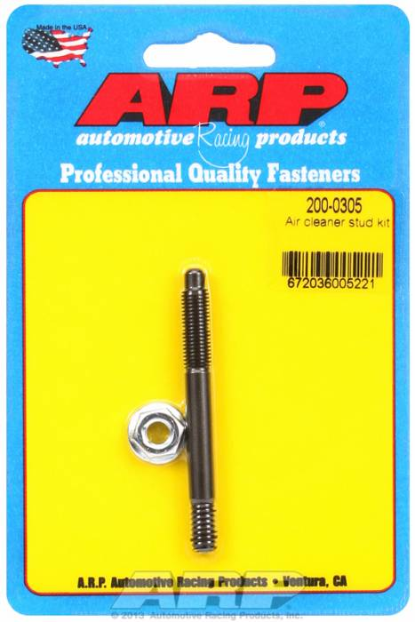 "ARP - ARP2000305 - ARP Air Cleaner Stud-1/4"" X 2-3/4"" Black Oxide Finish"