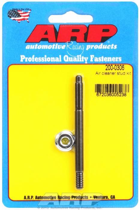 """ARP - ARP2000306 - ARP Air Cleaner Stud-1/4"""" X 3-1/4"""" Black Oxide Finish"""