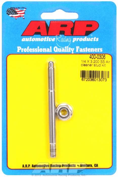 "ARP - ARP4000306 - ARP Air Cleaner Stud-1/4"" X 3-1/4"" Stainless Steel"