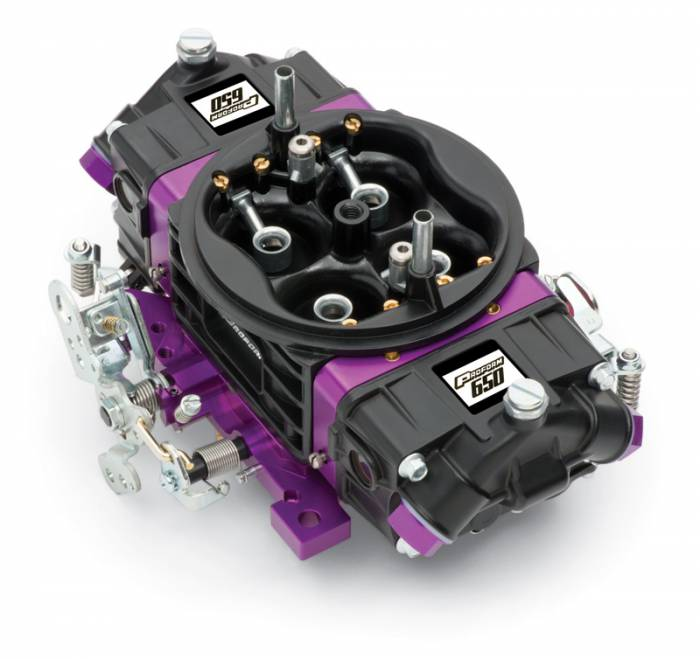 Proform - 67301 - Proform?á?á- Black Race Series Carburetor; 650 CFM, Mechanical Secondary, Black & Purple