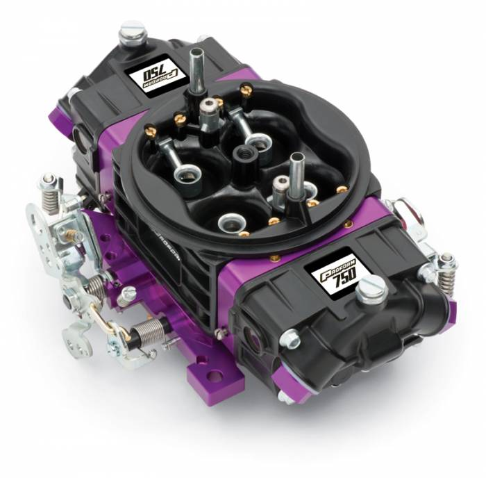 Proform - 67302 - Proform?á?á- Black Race Series Carburetor; 750 CFM, Mechanical Secondary, Black & Purple