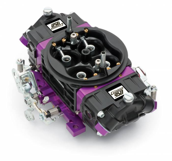 Proform - 67304 - Proform Black Race Series Carburetor; 950 CFM, Mechanical Secondary, Black & Purple