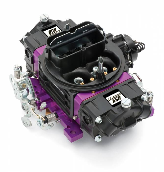 Proform - 67312 -?áProform?áBlack Street Series Carburetor; 650 CFM, Mechanical Secondary, Black & Purple