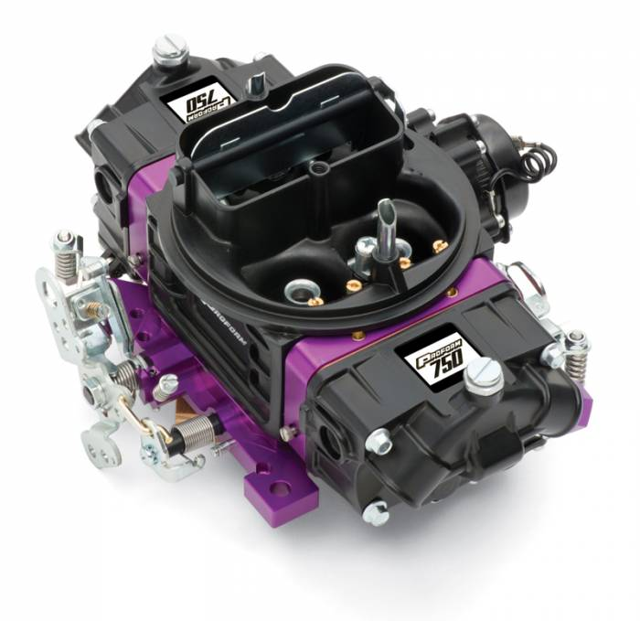 Proform - 67313 - Proform Black Street Series Carburetor; 750 CFM, Mechanical Secondary, Black & Purple