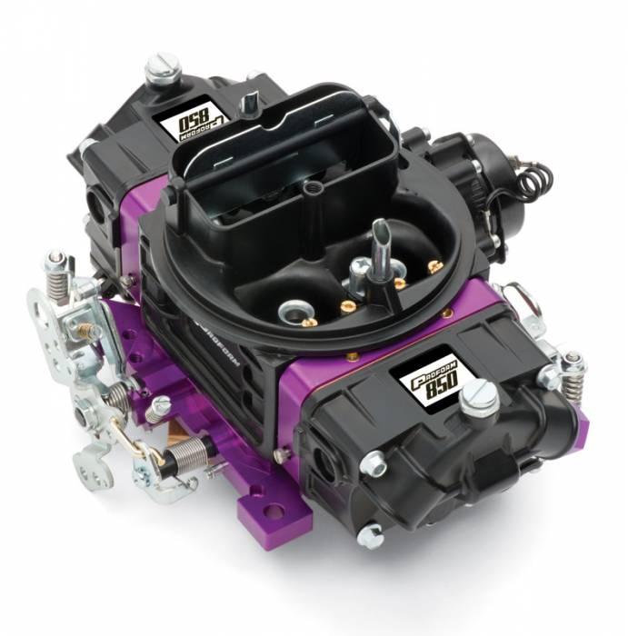 Proform - 67314 -?áProform?áBlack Street Series Carburetor; 850 CFM, Mechanical Secondary, Black & Purple