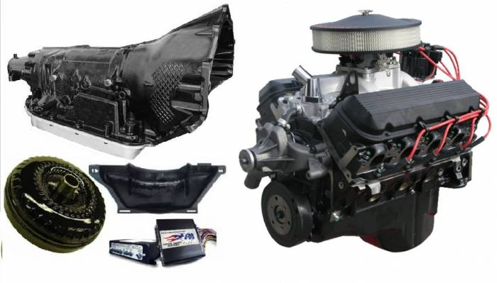 PACE Performance - GMP-4L80E502HO-2 - Pace Prepped & Primed CPP 502HO 450HP Black Trim Crate Engine with 4L80E Transmission Package