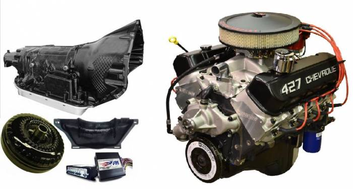 PACE Performance - GMP-4L80EZZ427 - Pace Prepped & Primed ZZ427 505HP Turnkey Engine with 4L80E Transmission Package
