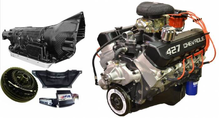 PACE Performance - GMP-4L80EZZ427-2X - Pace Prepped & Primed ZZ427 505HP with Black Finish Engine with 4L80E Transmission Package