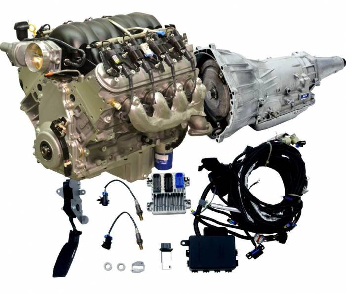 PACE Performance - CPSLS34804L70E-MCX - Pace Muscle Car LS3 480HP Engine with 4L70E Transmission Combo Package.