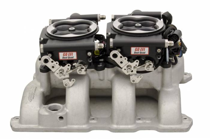 FiTech Fuel Injection - FTH-30062 - FiTech Fuel Injection 30062 Go EFI 2x4 625HP (normally aspirated) Matte Black Finish