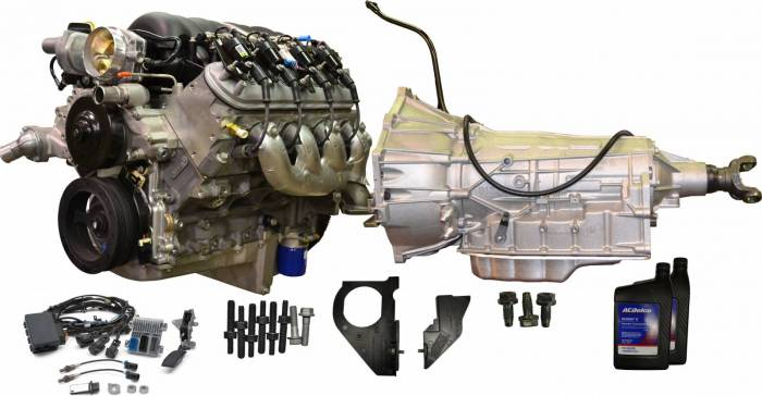 Chevrolet Performance Parts - CPSLS34806L80E-X GM LS3 480HP Engine with 6L80E 6-Speed Auto Transmission Combo Package.