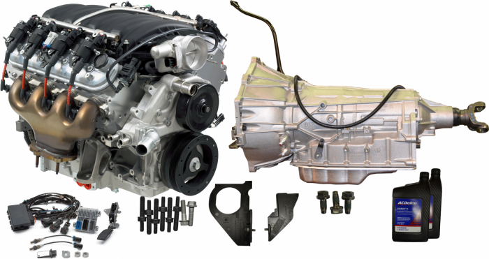 Chevrolet Performance Parts - CPSLS76L80E - GM LS7 505HP Engine with 6L80E 6-Speed Auto Transmission Combo Package.