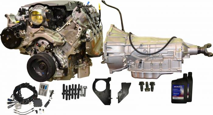 PACE Performance - CPSLT1D6L80E - GM LT1 460HP Dry Sump Engine with 6L80E 6-Speed Auto Transmission Combo Package.