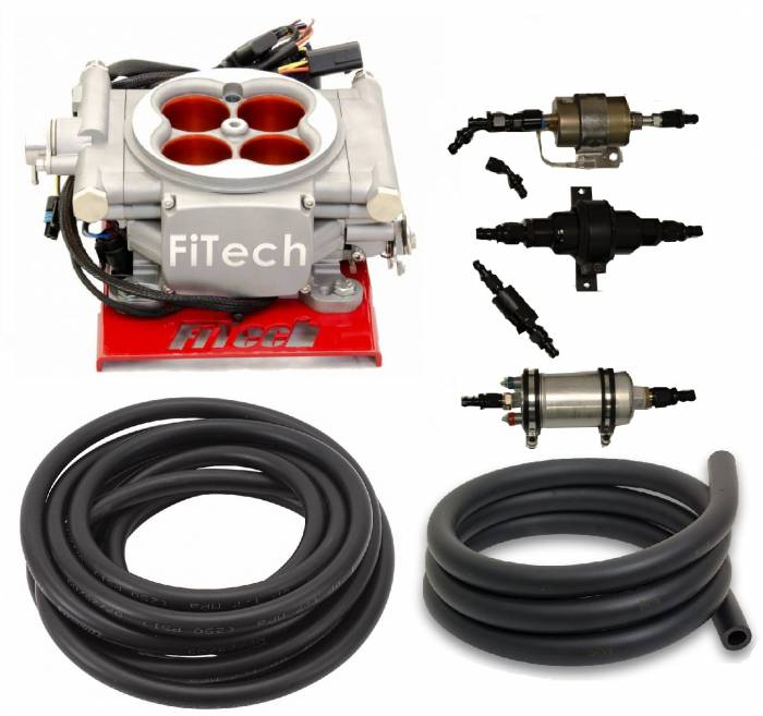 FiTech Fuel Injection - PAC-30003 - 400HP Carb Swap EFI Master Package with In-Line Fuel Pump