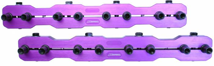 "Proform - 66951 - Rocker Arm Aluminum Stud Girdles - Chevy Small Block with 7/16"" Stud, Race Series Purple, 2 Per Package"