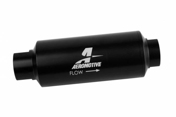 Aeromotive - AEI12343 - Filter, In-Line, Marine, AN12, 40 Micron Stainless steel element, Black Hardcoat