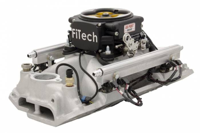 FiTech Fuel Injection - FTH-37858 - Go Port SBC 500-1050 HP Matte Black TB (gen 1 intake)