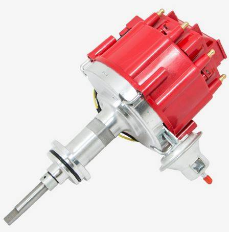 TSP - TSP-JM6513R Mopar SB Ready to Run HEI Distributor. Red Cap