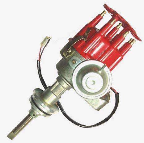 TSP - TSP-JM6714R Mopar BB (440 RB) Ready to Run Electronic Distributor. Red Cap